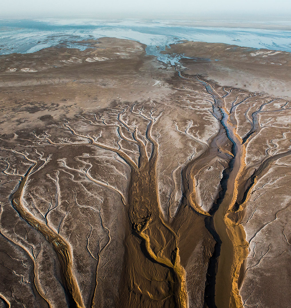 In 2014, following a Mexico–U.S. treaty, the Colorado River reaches the sea for the first time in years. Photo: Pete McBride